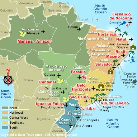 Index Of ImagesBRAZIL - Map of brazil with cities